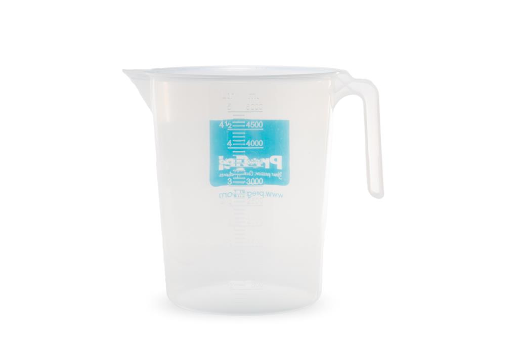 Plastic Graduated & Stackable Pitcher with PreGel America Logo