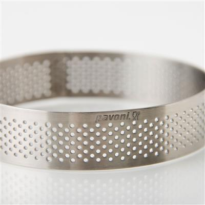 9 cm Perforated Round Stainless-Steel Tart Band